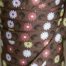 Floral watermelon and brown braid