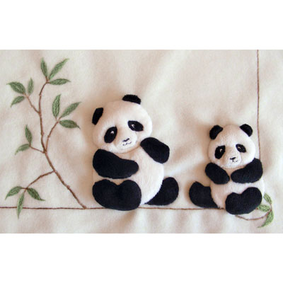 Windflower Embroidery - Pandas