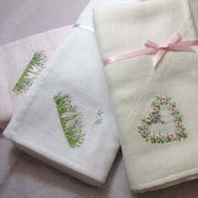 Handmade Embroidered Wrap - Heart