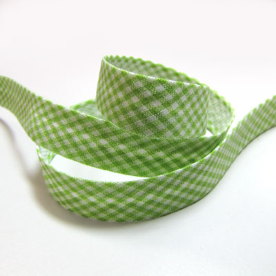 Gingham Bias Binding, 14mm