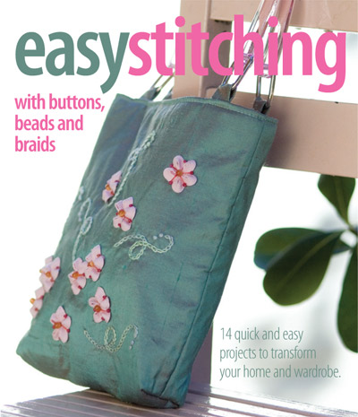 Easy Stitching with buttons, beads and braids