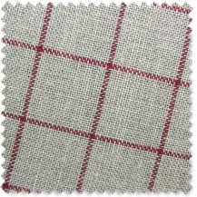 29 Count Newport Linen - Natural with Red