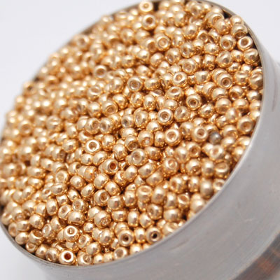 Metallic Gold Seed Beads