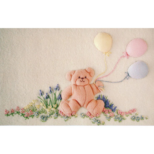 Windflower Embroidery - Balloon Bear