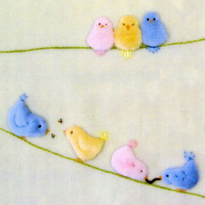 Windflower Embroidery - Birds on a Wire