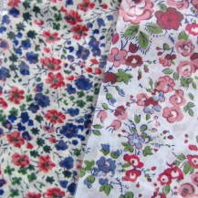 Liberty Fabric Handkerchiefs - Blue and Red Hues