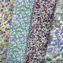 Liberty Fabric Handkerchiefs - Green Hues