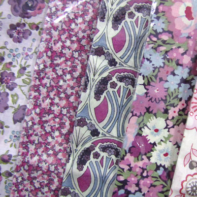 Liberty Fabric Handkerchiefs - Pink Hues