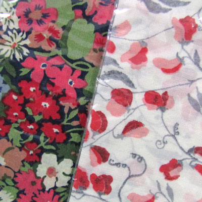 Liberty Fabric Handkerchiefs - Red Hues