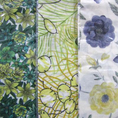 Liberty Fabric Handkerchiefs - Yellow Hues