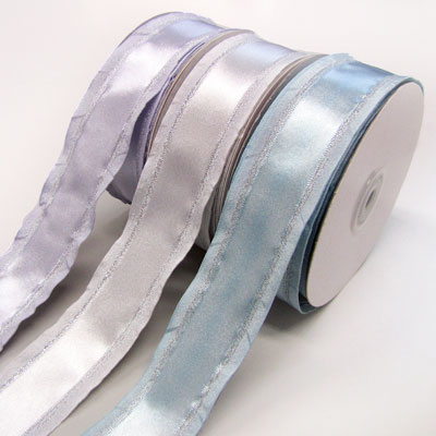 Satin Ribbon 38mm wide - Pale blue