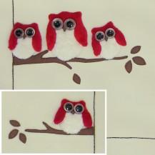 Windflower Embroidery Owls by Jan Kerton