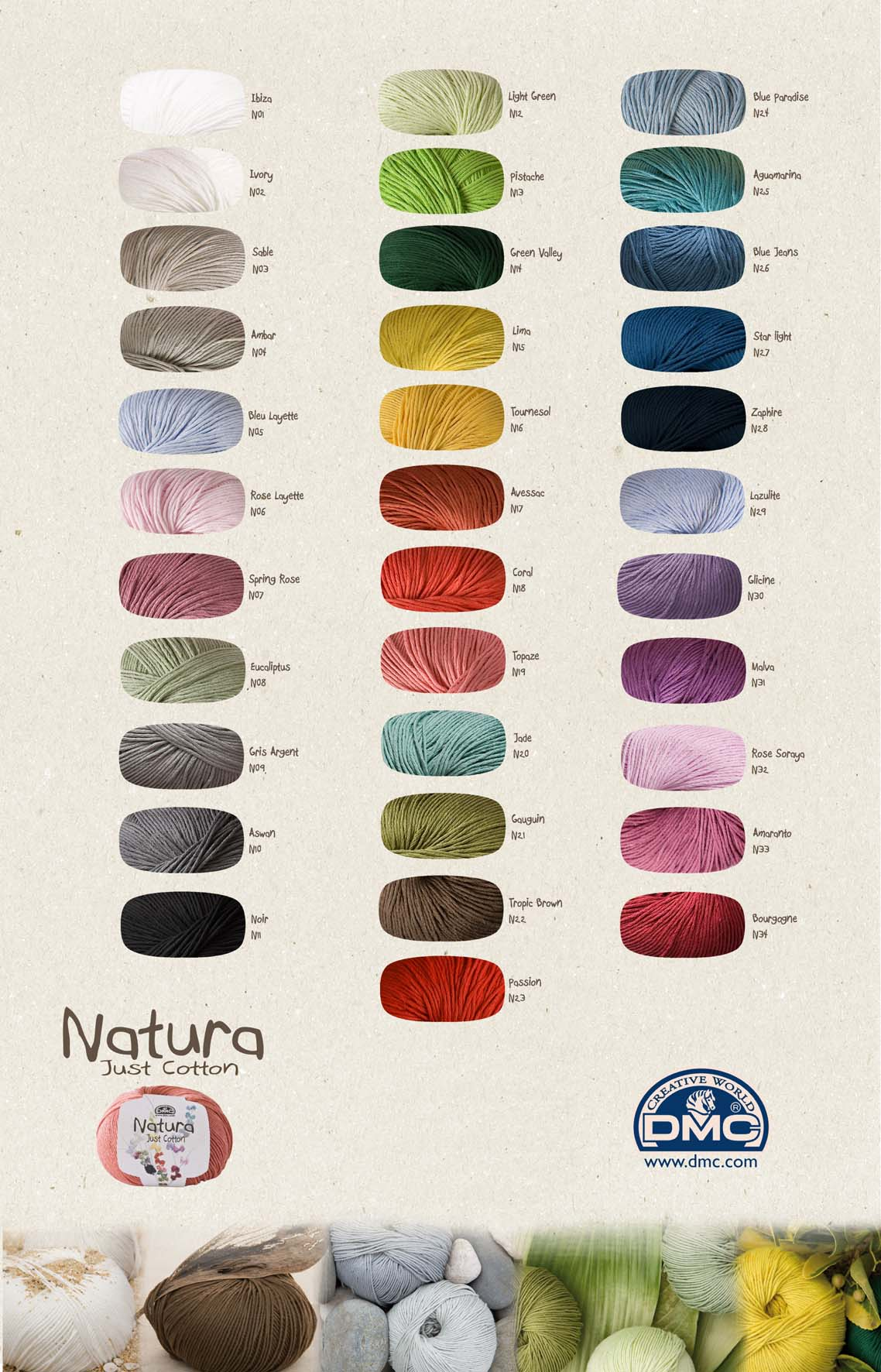 Dmc Natura Just Cotton Create In Stitch