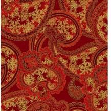 Winter Elegance Red_Gold Tonal Paisley