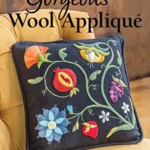 gorgeous wool applique