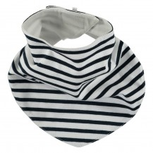 Navy Striped Bib
