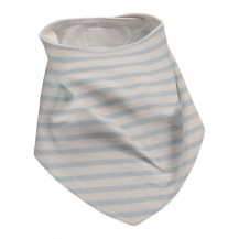 Pale Blue Striped Bib