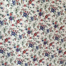 Navy floral cotton fabric