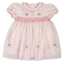 Classic pink Smocked Dress