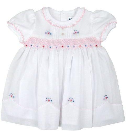 Classic white Smocked Dress