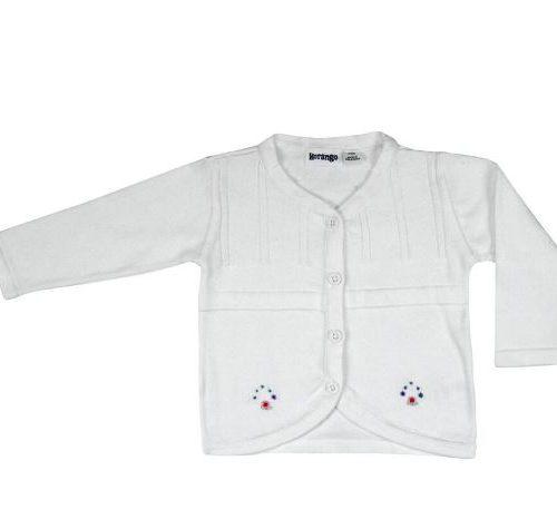 White embridered cardigan