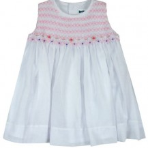 sleeveless smocked dress