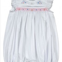 white smocked romper