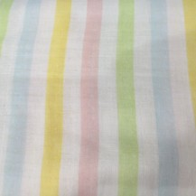 stripped double layered voile