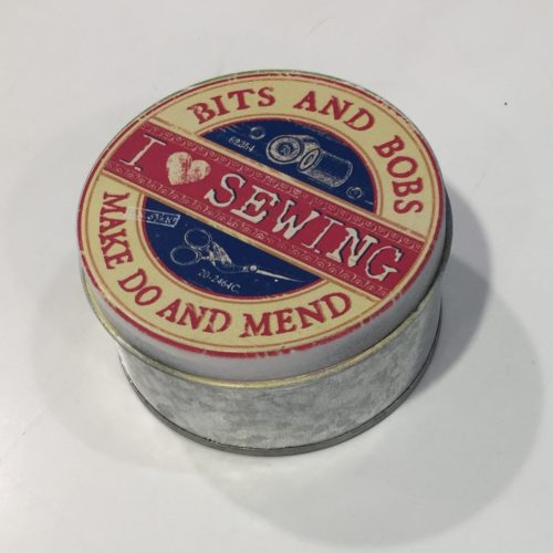 i love sewing round box