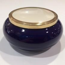 large ceramic pot blue
