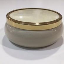 medium ceramic pot cream