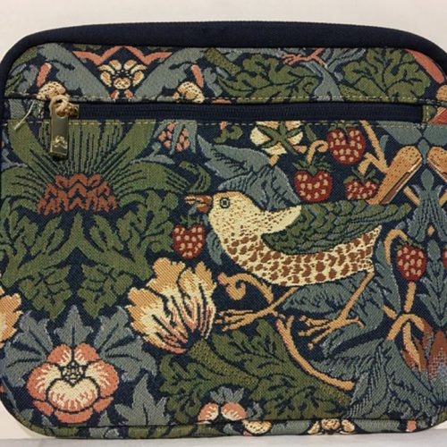 travel Jewellery Bag strawberry thief