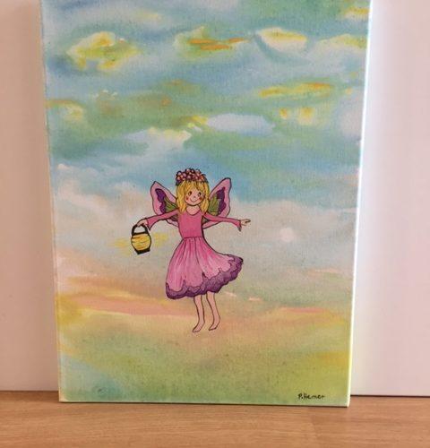 fairy with lantern canvas