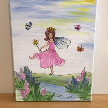 fairy with wand canvas