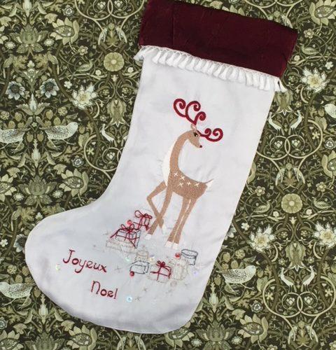reindeer noel stocking