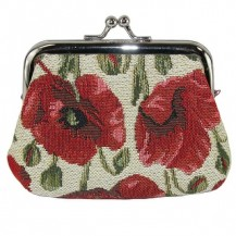 CTM®-Women's-Poppy-Print-Tapestry-Coin-Purse-Wallet