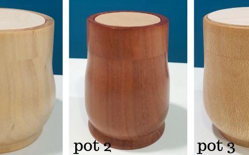 3 pots
