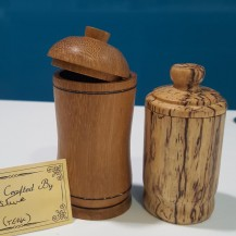 wooden pot with lid